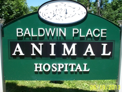 Baldwin Place Animal Hospital Sign