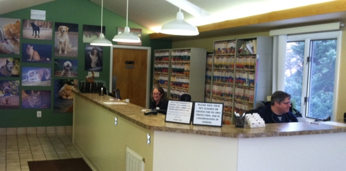 Inside view of Great Falls Animal Hospital