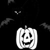 black cat on jack-o-lantern