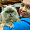 Vicky with cat