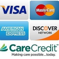 Payment Types including Care Credit