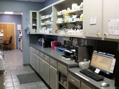Pharmacy and lab area