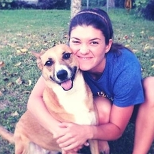 Kelsey and her dog - Bella