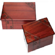 Paw Print Wood Urn
