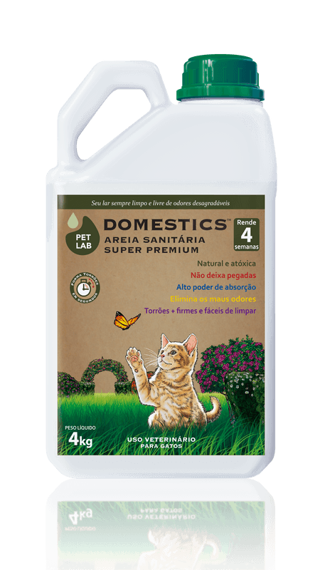 PetLab Domestics - Areia Sanitária para Gatos - bombona 4kg