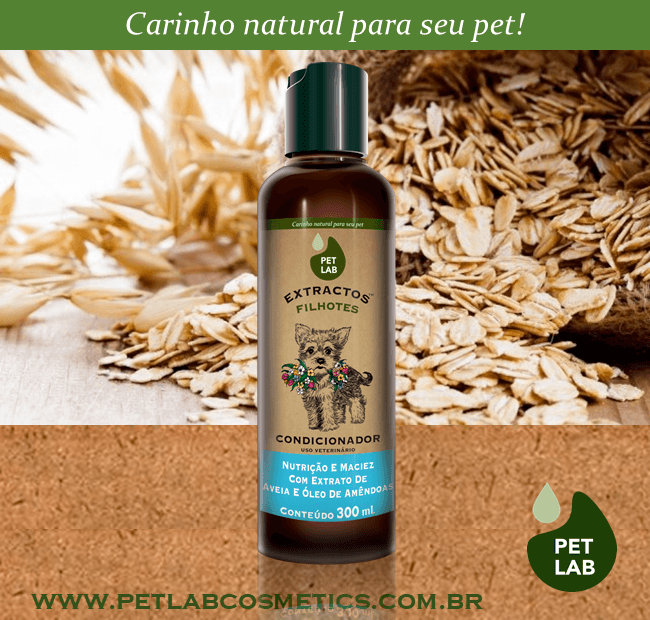 PetLab Extractos - Condicionador para cães filhotes - Aveia - 300 ml