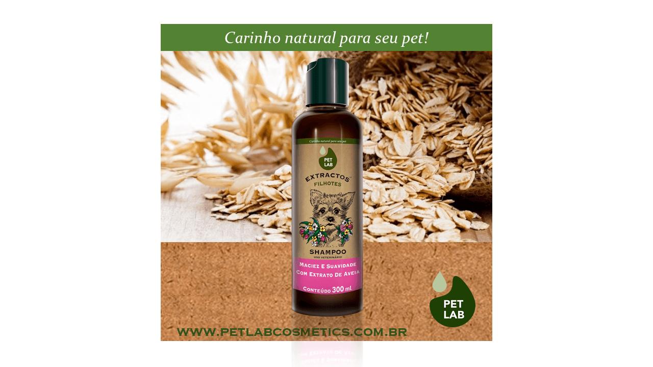 PetLab Extractos - Shampoo Cães Filhotes - Aveia - 300 ml