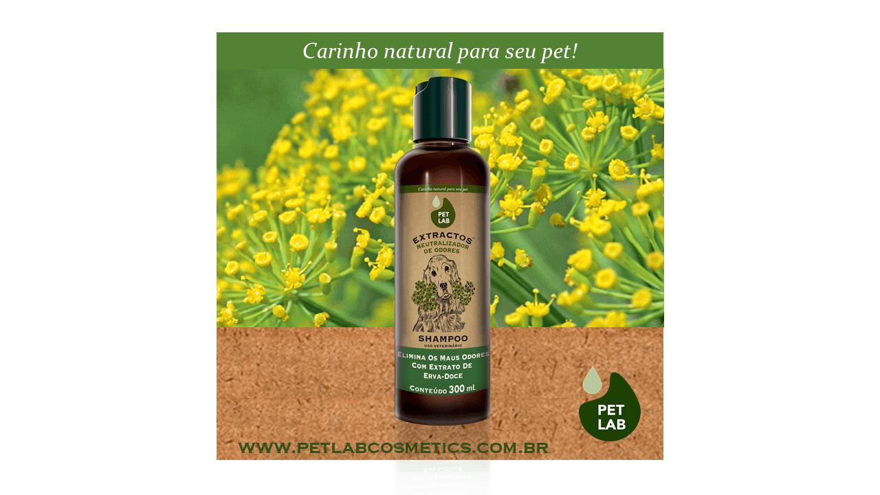 PetLab Extractos - Shampoo Neutralizador de Odores para Cães - Erva Doce - 300 ml