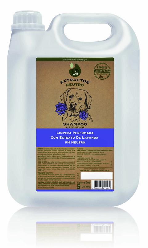 PetLab Extractos - Shampoo Neutro para cães - Lavanda - 5 Litros