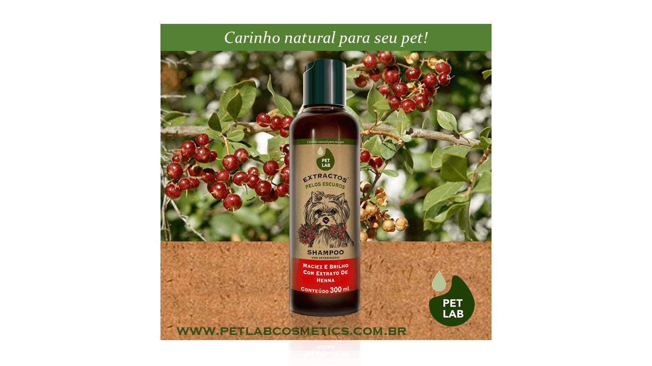 PetLab Extractos - Shampoo para cães com pelos escuros - Henna - 300 ml