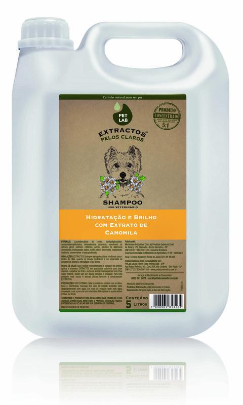 PetLab Extractos - Shampoo para cães pelos claros - Camomila - 5 Litros