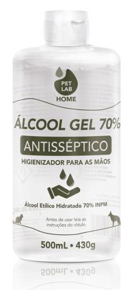 PetLab HOME - Álcool 70% antisséptico - GEL