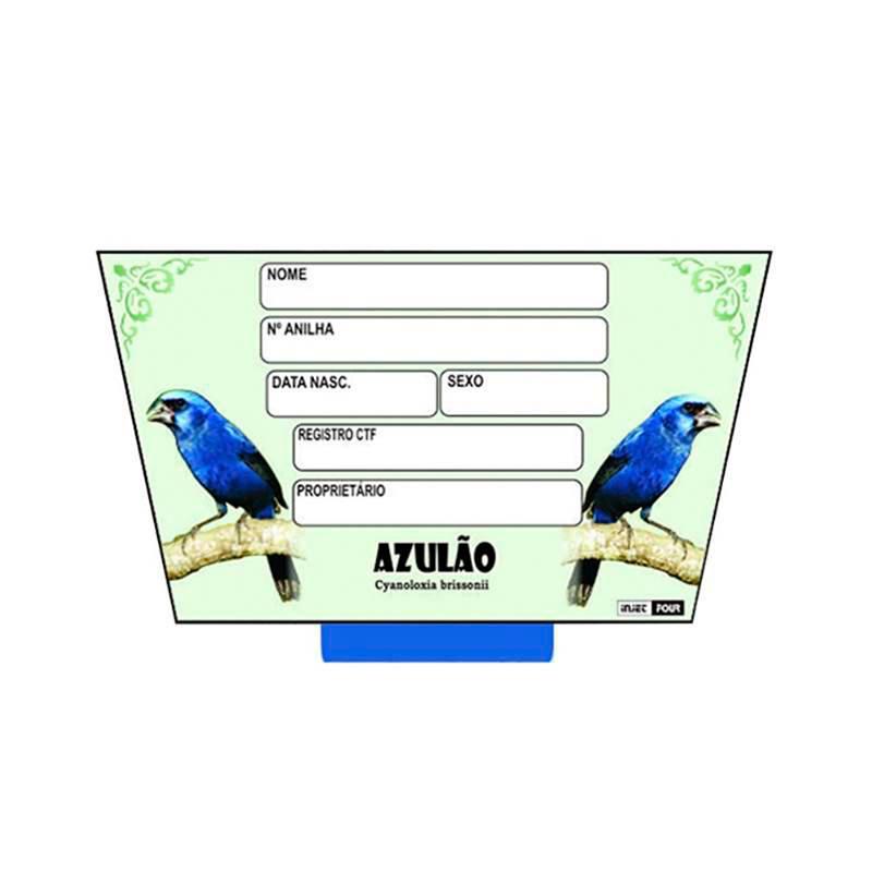 Placa Identificação Azulao com 6Un.