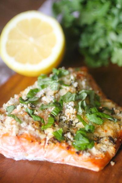 Parmesan Herb Grilled Salmon