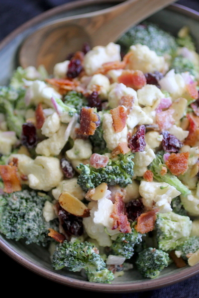 Clean Eating Broccoli Cauliflower Salad
