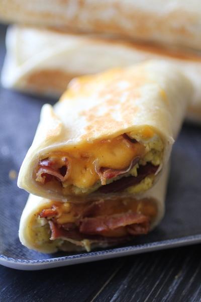 Bacon Egg Amp Cheese Breakfast Burritos Dashing Dish