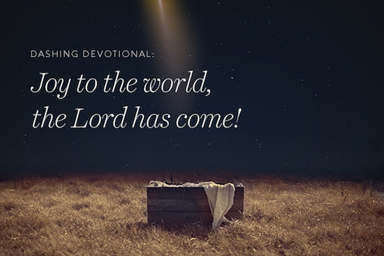 Dashing Devotional: Joy to the World, the Lord has Come ...