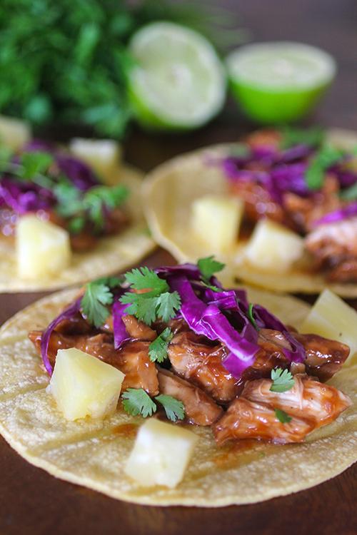 Crockpot Hawaiian Barbecue Tacos