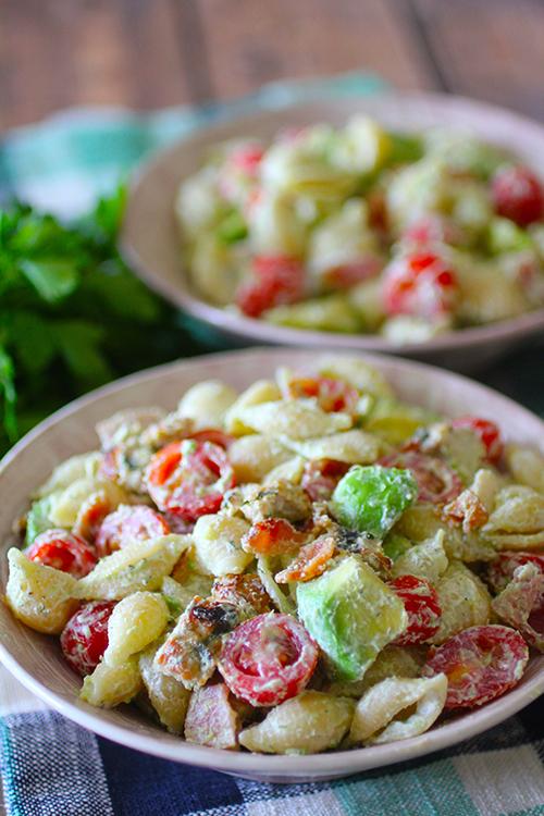Grilled Chicken Cobb Pasta Salad