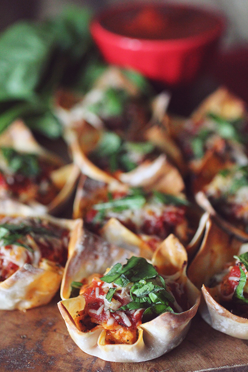 Chicken Parmesan Cups