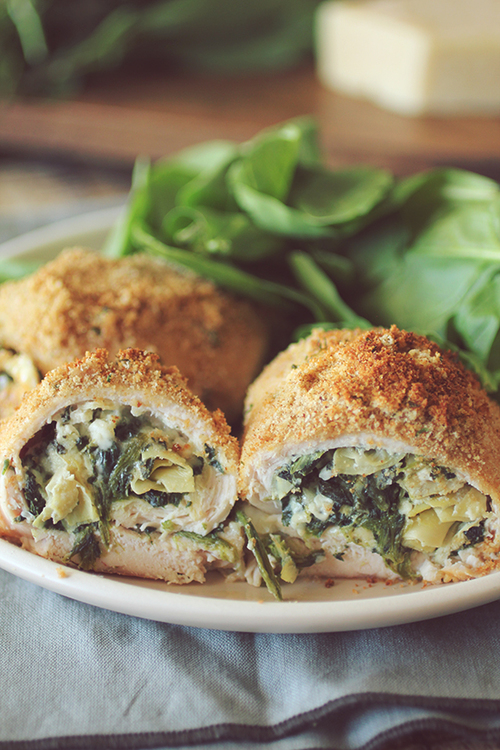 Spinach Artichoke Stuffed Chicken Breasts
