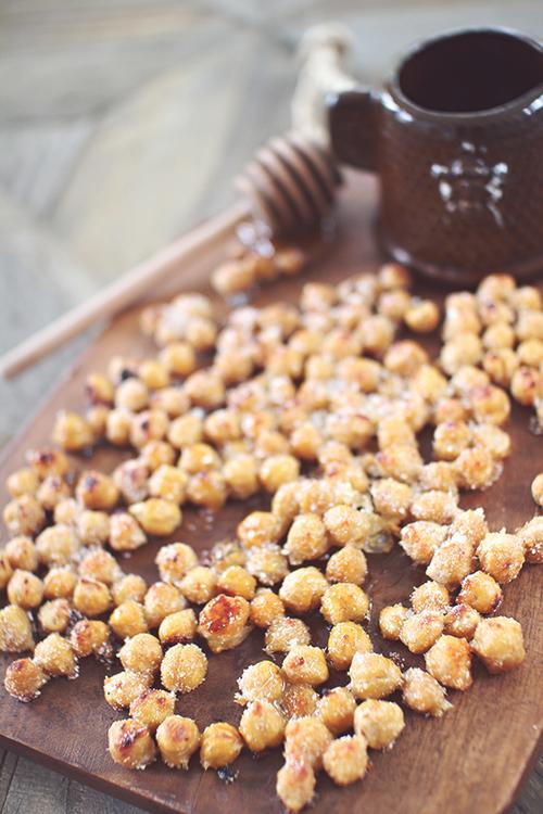 Honey Parmesan Roasted Chickpeas