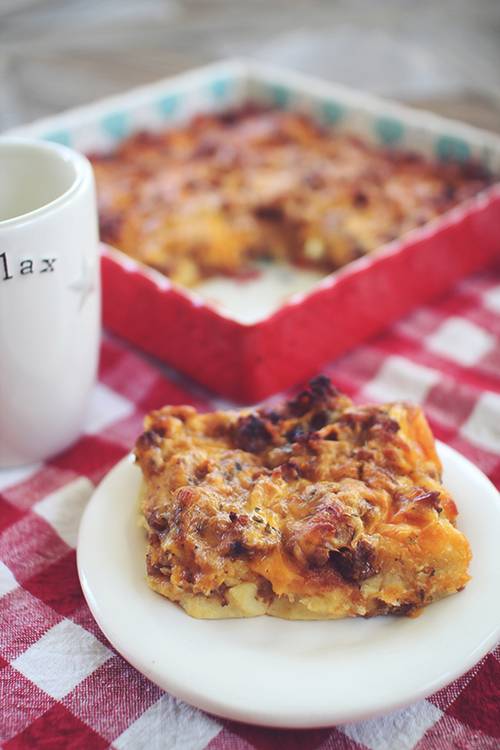 Skinny Sausage and Egg Breakfast Casserole