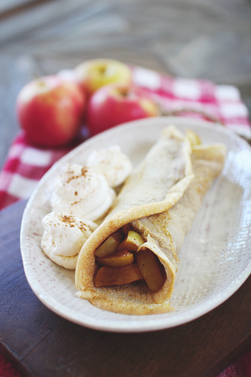 Apple Pie Protein Crepes