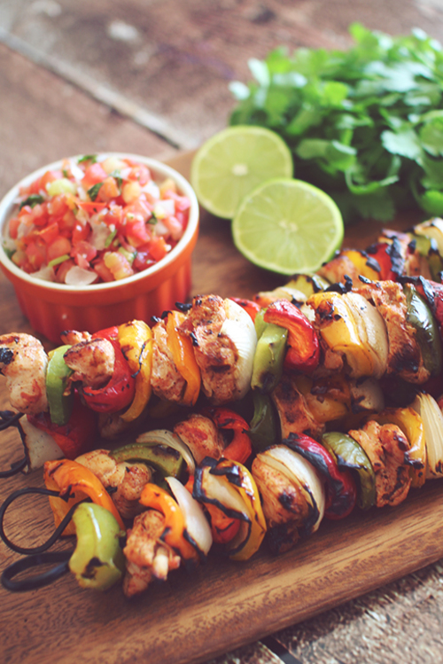Marinated Chicken Fajita Kabobs