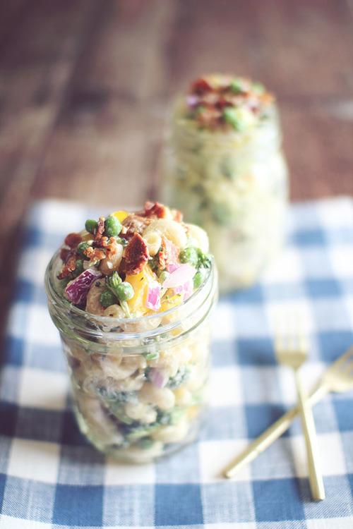 Clean Eating Creamy Pasta Salad