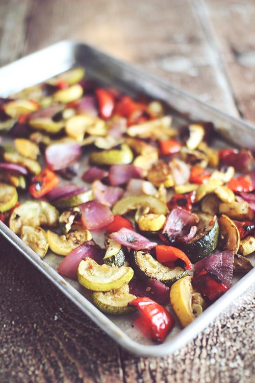 Grilled or Roasted Parmesan Balsamic Veggies