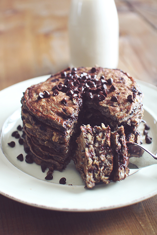 No Bake Cookie Pancakes