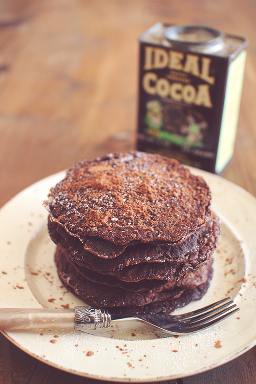 Skinny Chocolate Protein Pancakes