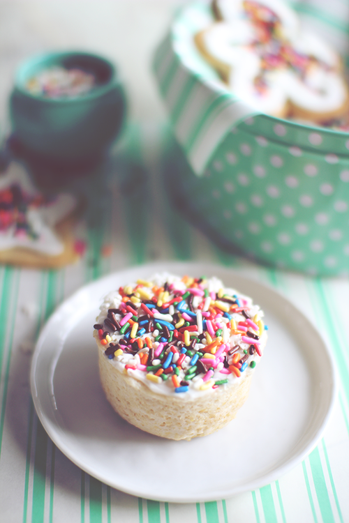 Sugar Cookie Cupcake for One