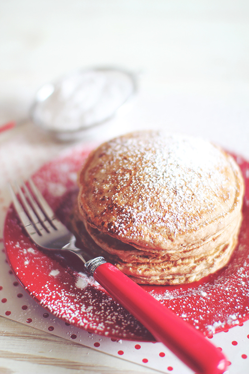 Egg Nog Pancakes for One!