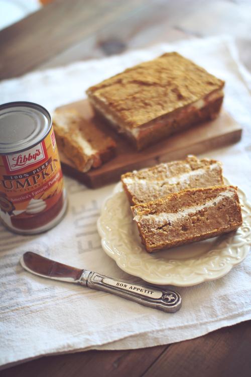 Low Carb Pumpkin Cream Cheese Bread