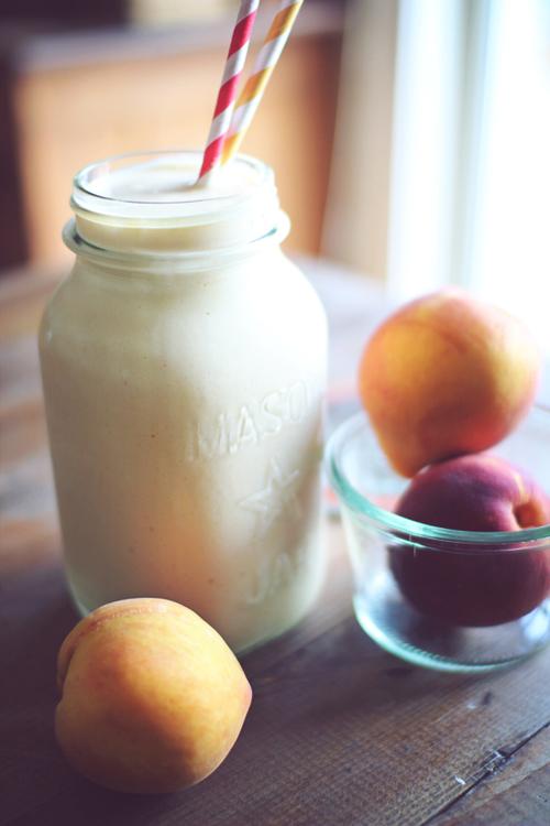 Peach Cobbler Protein Shake