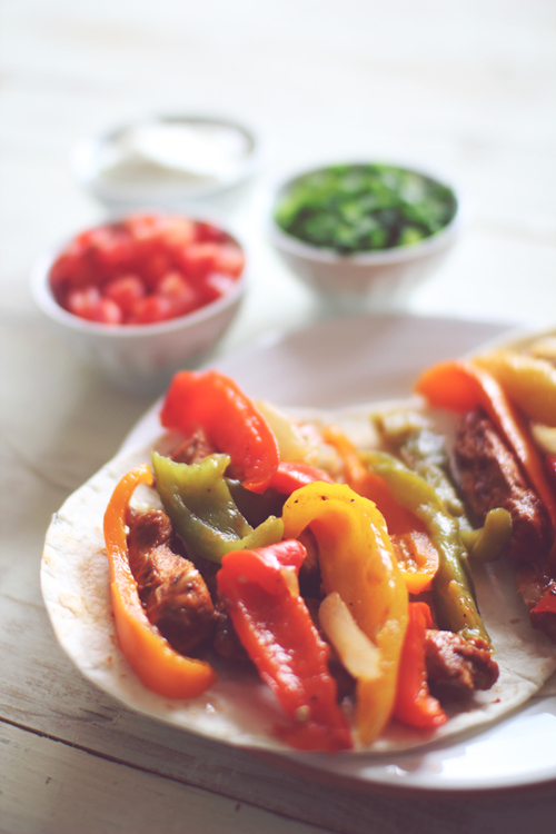Crockpot Lime Chicken Fajitas