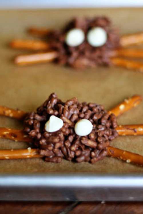 Skinny Chocolate Spiders