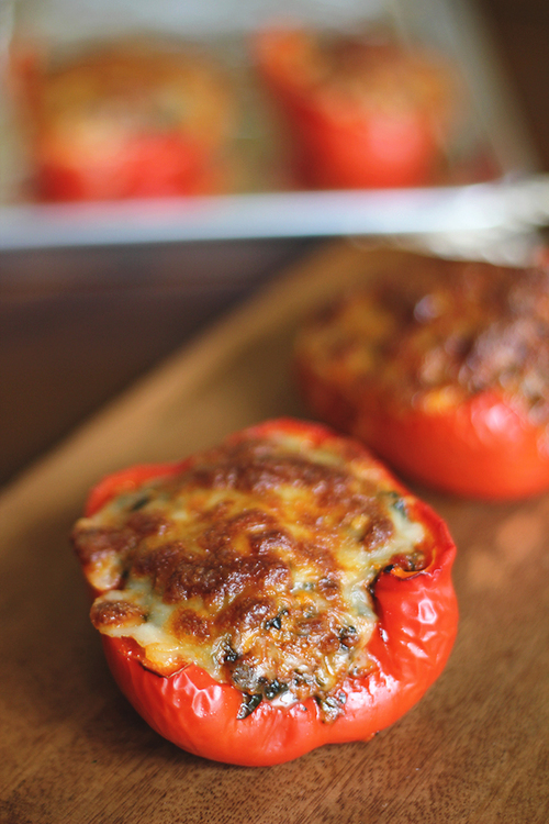 Italian-Style Stuffed Red Peppers