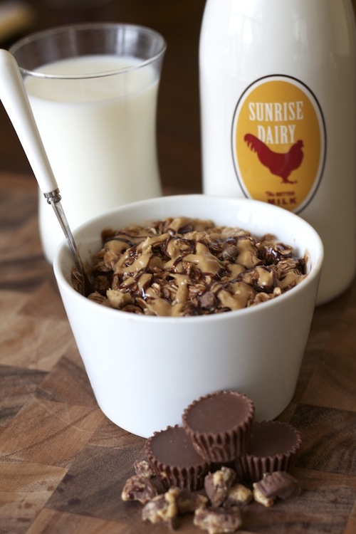 Reese's Cookie Batter Oatmeal