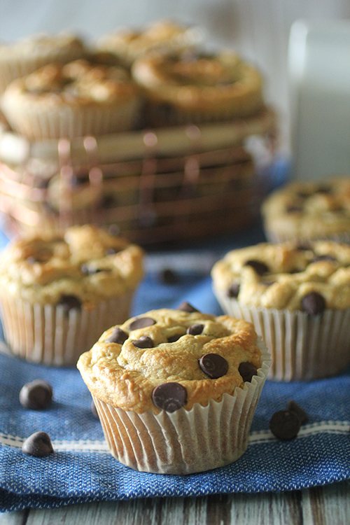 Flourless Chocolate Chip Muffins