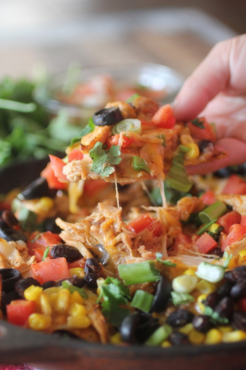 Crockpot Chicken Nachos