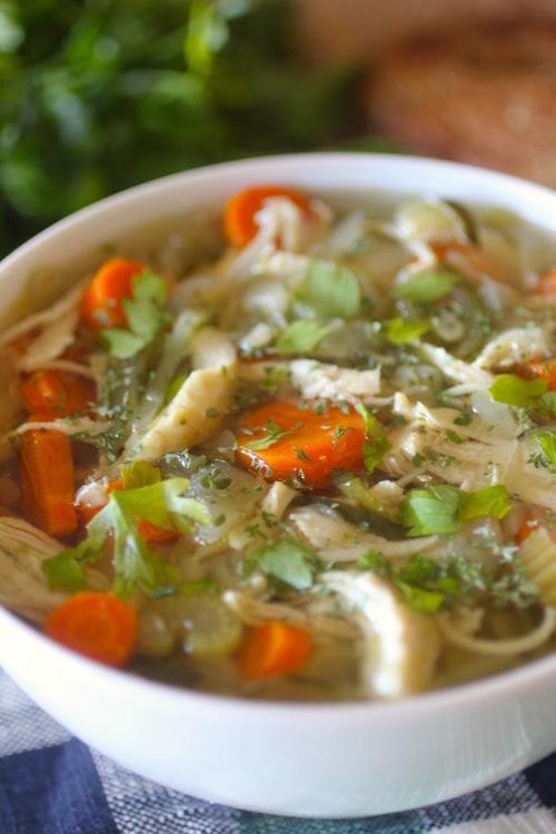 Crockpot Chicken Zoodle Soup
