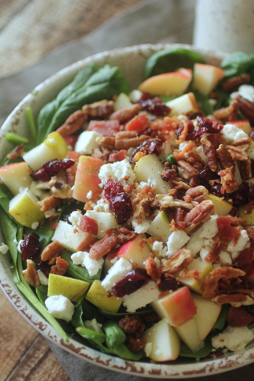 Pecan and Cranberry Salad with Poppyseed Dressing