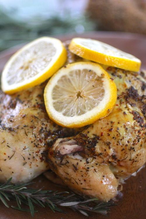 Crockpot Lemon Rotisserie Chicken