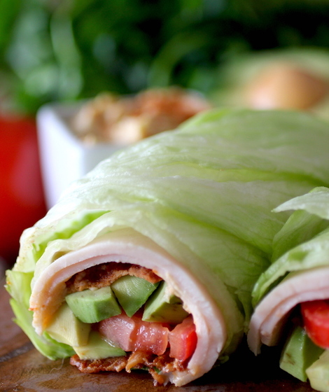 Blt turkey lettuce wrap dashing dish forumfinder Images