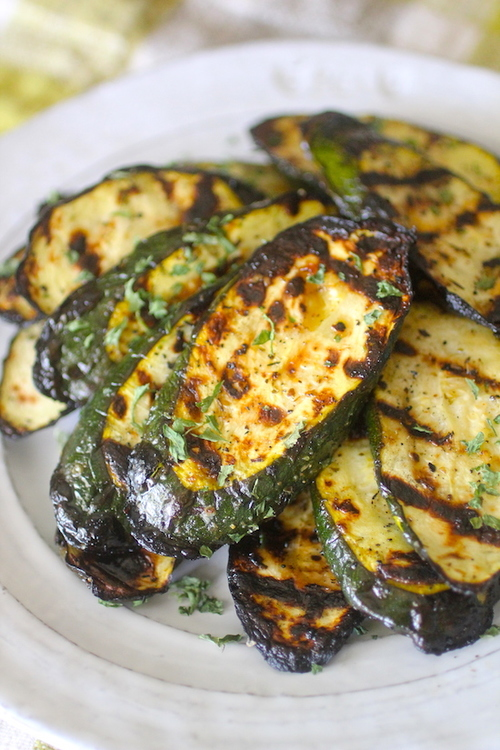 Lemon Garlic Grilled Zucchini