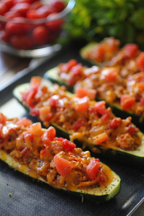 Cheeseburger Zucchini Boats