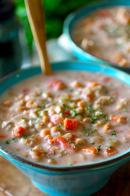 Crockpot White Bean Chicken Chowder   Dashing Dish